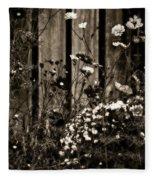 English Garden Noir Fleece Blanket