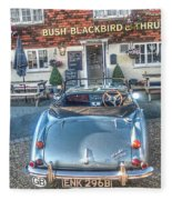 English Pub English Car Fleece Blanket