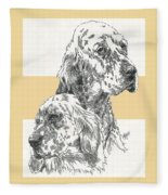 English Setter And Pup Fleece Blanket