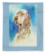 English Setter Fleece Blanket