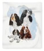 English Springer Spaniel W/ghost Fleece Blanket