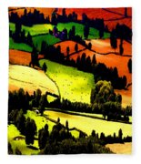 English Summer Fields Fleece Blanket