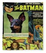 English Toy Terrier Art Canvas Print - Batman Movie Poster Fleece Blanket