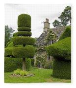 English Yew Topiary Fleece Blanket
