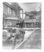 Englishtown New Jersey Classic Car Fleece Blanket