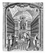 Engraving Of Pharmacy, Geiger, 1651 Fleece Blanket
