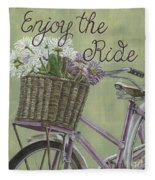 Enjoy The Ride Fleece Blanket