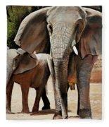 Elephant Walk Fleece Blanket
