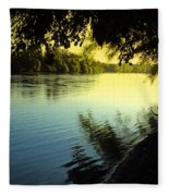 Enjoying The Scenic Beauty Of The Sacramento River Fleece Blanket