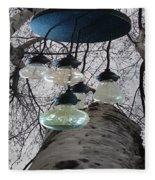 Enlightened Birch Trees Fleece Blanket