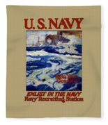 Enlist In The Navy - Help Your Country Fleece Blanket
