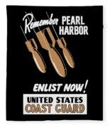 Enlist Now - United States Coast Guard Fleece Blanket