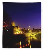 Ennis, Co Clare, Ireland Bridge Over Fleece Blanket
