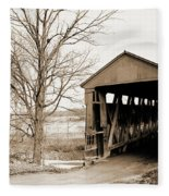Enochsburg Indiana Covered Bridge Fleece Blanket