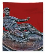 Enos Country Slaughter Statue - Busch Stadium Fleece Blanket