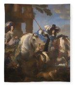 Enrichetta Adelaide Di Savoia E Ferdinando Di Baviera Fleece Blanket