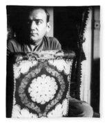 Enrico Caruso, Last Known Photo, 1921 Fleece Blanket