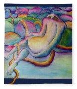 Entangled Figure With Rocks Fleece Blanket