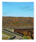 Enter The Kinzua Skywalk Fleece Blanket