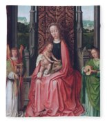 Enthroned Virgin And Child, With Angels Fleece Blanket