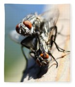 Entomologists Discover Why People Want To Be A Fly On The Wall Fleece Blanket