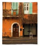 Entrance In Rome Fleece Blanket