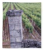 Entrance Of A Vineyard, Chateau La Fleece Blanket