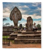 Entrance To Angkor Wat  Fleece Blanket
