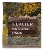 Entrance To Glacier Fleece Blanket