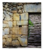 Entrance To Machupicchu Fleece Blanket
