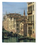 Entrance To The Grand Canal Looking West Fleece Blanket