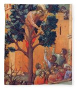 Entry Into Jerusalem Fragment 1311 Fleece Blanket