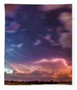Epic Nebraska Lightning 009 Fleece Blanket