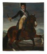 Equestrian Portrait Of Fernando Vii Fleece Blanket