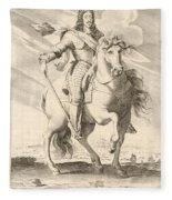 Equestrian Portrait Of Louis Xiii Of France Fleece Blanket