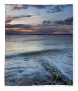 Eroded By The Tides Fleece Blanket