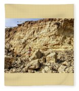 Eroding Graffiti Cliff 2 Fleece Blanket