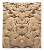 Golden Tidal Sands Fleece Blanket