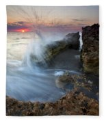 Eruption At Dawn Fleece Blanket