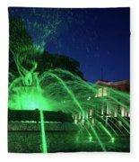 Eruption Of Green Waters, Sofia Fleece Blanket