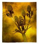 Eryngium Gold Fleece Blanket