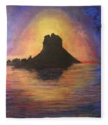 Es Vedra Sunset I Fleece Blanket