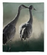 Escalante Sandhill Cranes Fleece Blanket