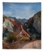 Grand Staircase Escalante Road Fleece Blanket