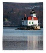 Esopus Lighthouse In December Fleece Blanket