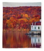 Esopus Lighthouse In Late Fall #1 Fleece Blanket