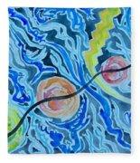 Esoteric Mind Energy Converging  Fleece Blanket