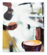 Espresso Expresso Italian Coffee Cup With Machine  Fleece Blanket