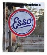 Esso Sign  Fleece Blanket