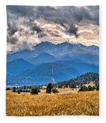 Estes Park From Glen Haven 3 Fleece Blanket